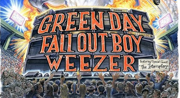 Green Day, Weezer et Fall Out Boy annoncent une méga tournée commune